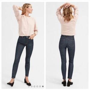 Everlane High Rise Dark Wash Skinny Jeans